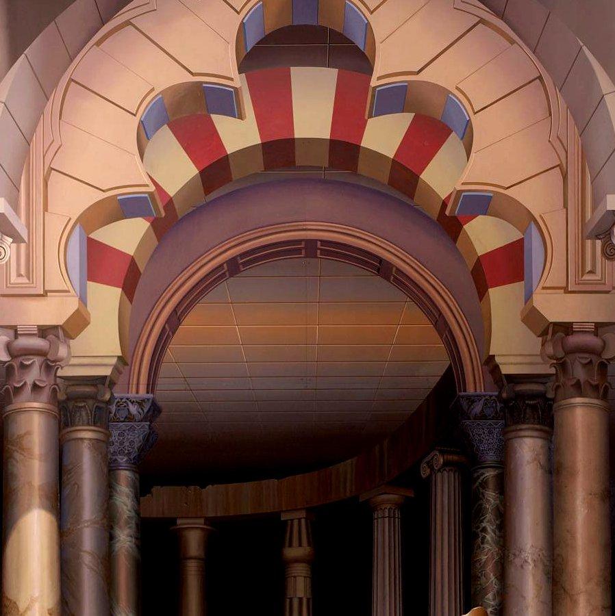 Colonnade Los Gatos Ca Trompe L Oeil Mural By John Pugh